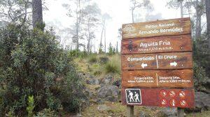 Trekking route to Pico Duarte